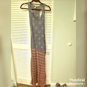 Stars and Stripes American flag-themed maxi dress